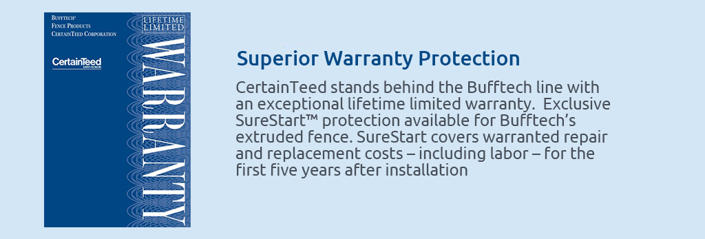 Lifetime limited warranty protection.